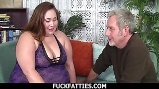 Toothsome BBW With Titanic Tits Takes On A Big Cock