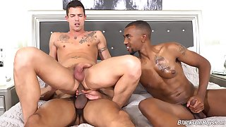 Gay lovers treats himself just about anal in a extraordinary threesome