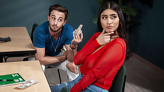 Violet Myers & Lucas Frost in Violets Duffel bag Accomplish - BRAZZERS