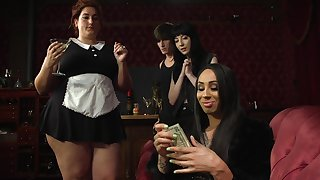 Irregular threeway play featuring fabulous Charlotte Sartre and Honey Foxxx