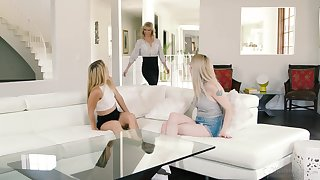 Lesbian threesome all round the afternoon with loved Serene Siren