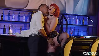 Ravenous redhead Gia Paige fucked rather hard in slay rub elbows with tread