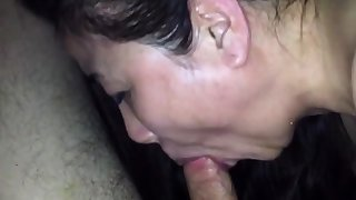 Cum scan nose of chinese milf