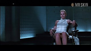 Basic vehemence emotions star Sharon Stone flashes her pussy in a pretentiously scene