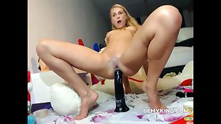 Anal Dildo Action With Blonde Teen Whore